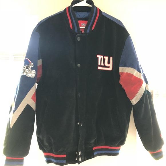 pretty nice b6087 fa64f Vintage New York Giants Leather Jacket